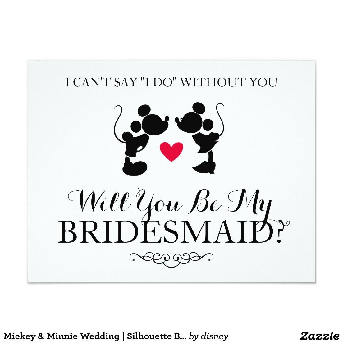 Mickey & Minnie Wedding | Silhouette Bridesmaid | WEDDING: WILL YOU ...