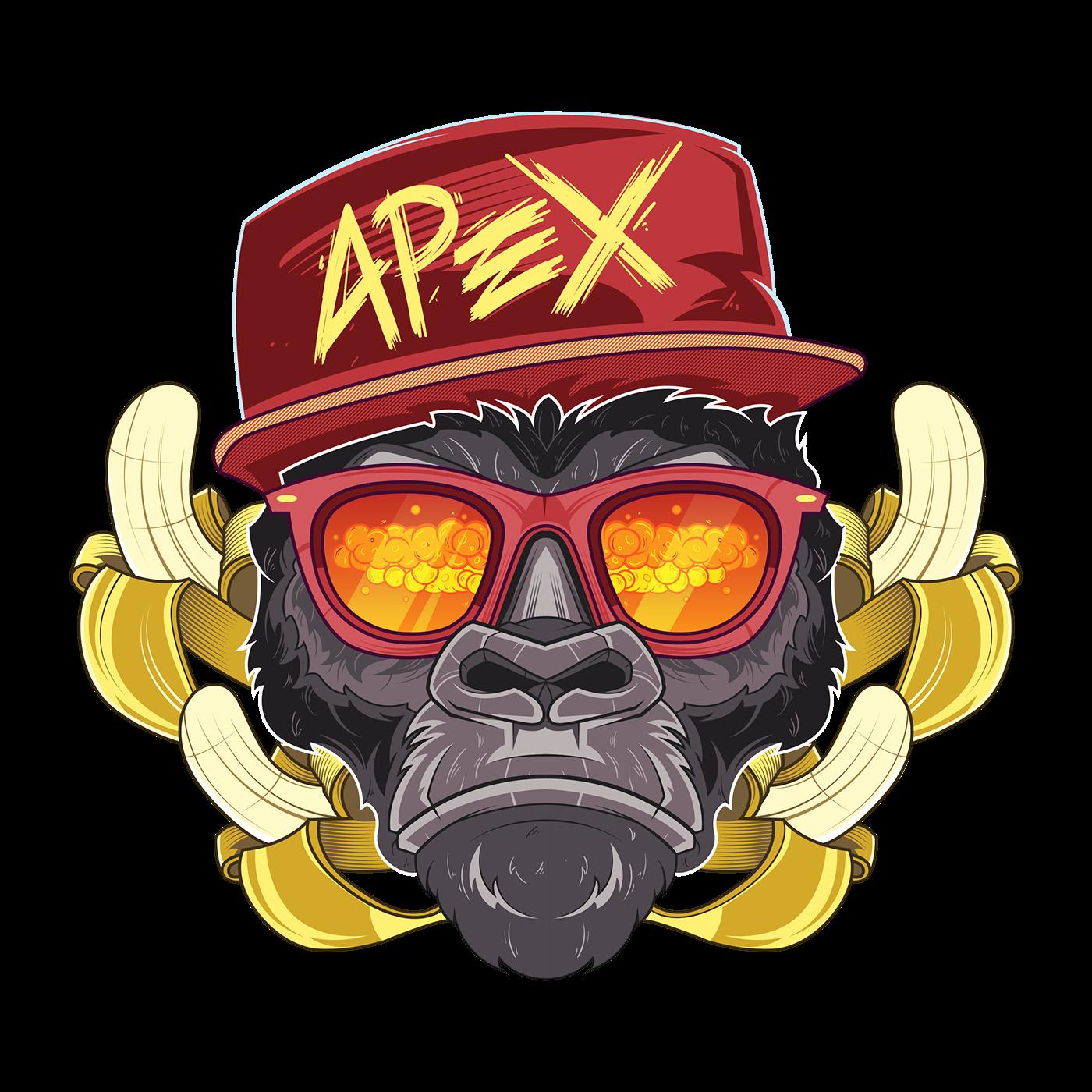 Nuke Monkey on Behance Monkey illustration, Monkey art
