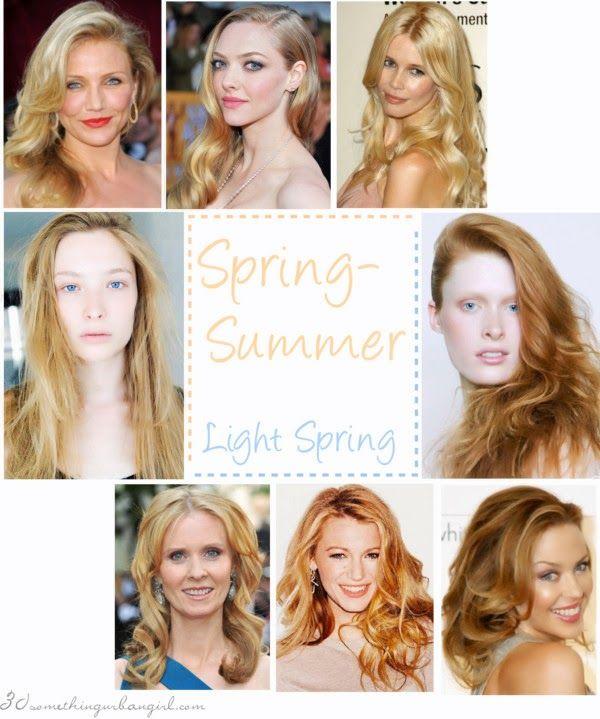 Are You A Spring Summer Light Spring Light Summer Color Palette