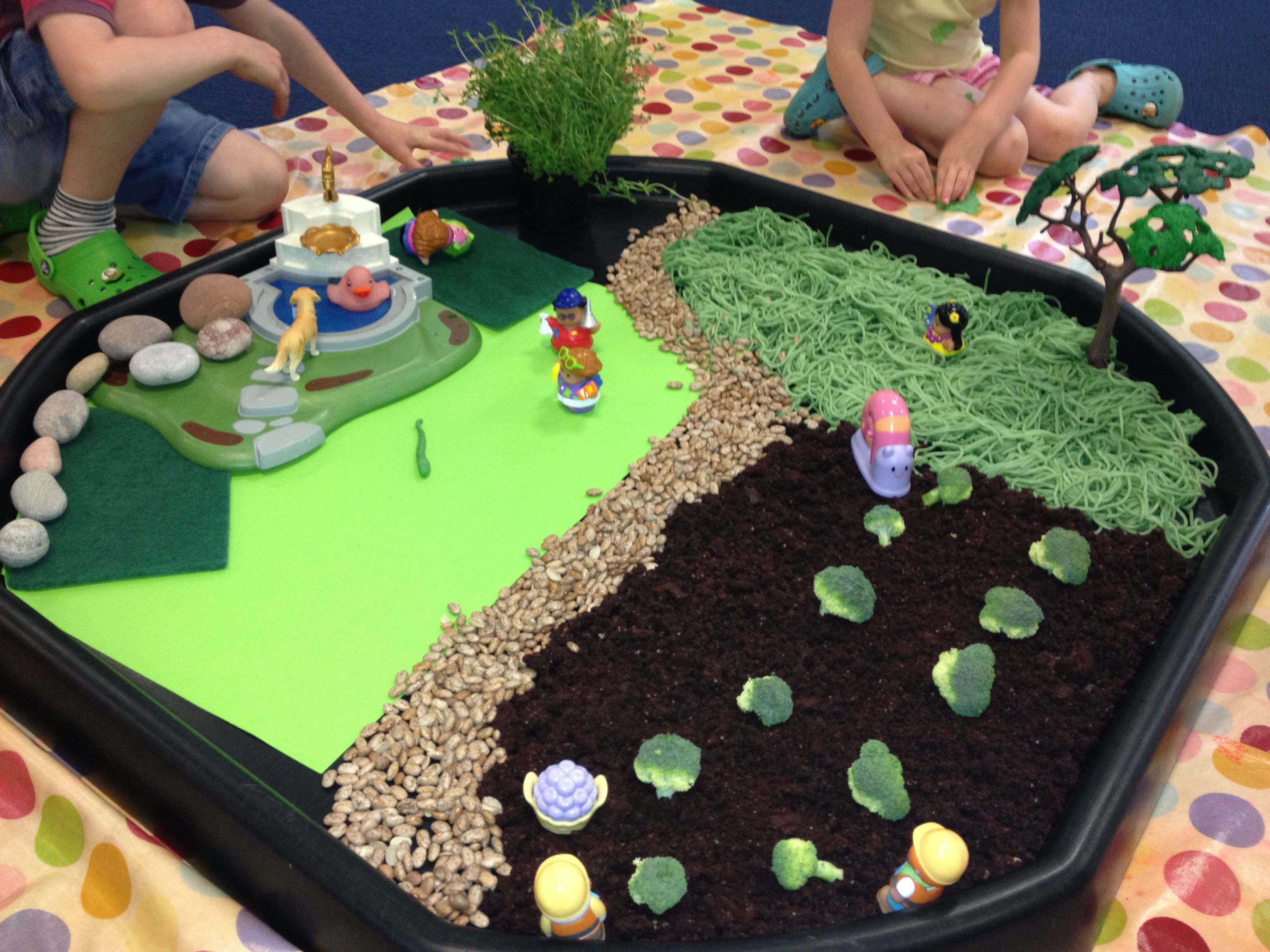 Messy Play Tuff Spot Farm With Images
