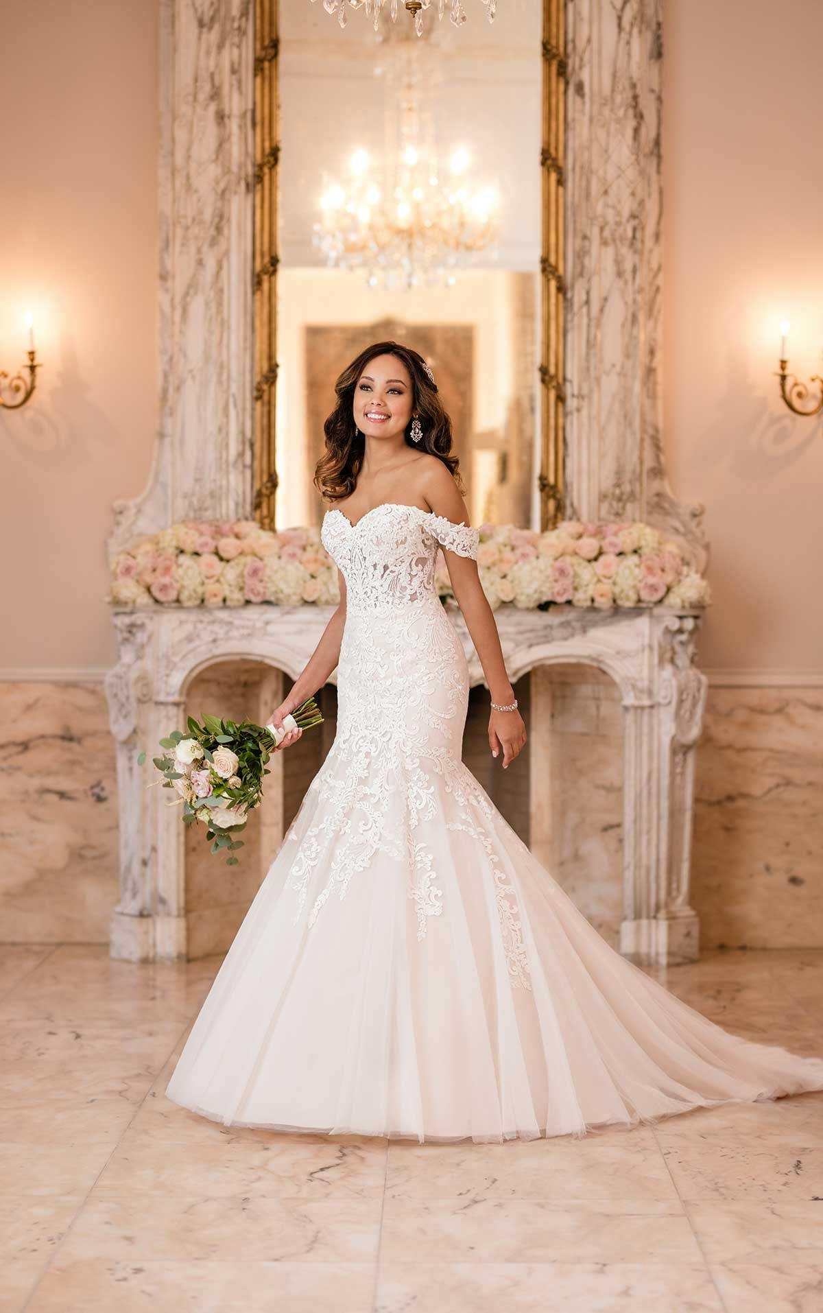 Lavish Fit And Flare Wedding Dress Wedding Dresses Stella York