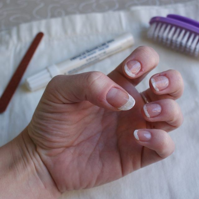 How To Make Your Fingernails Look White Under The Underside Of Your Nails White Tip Nails White Nails Nail Tips