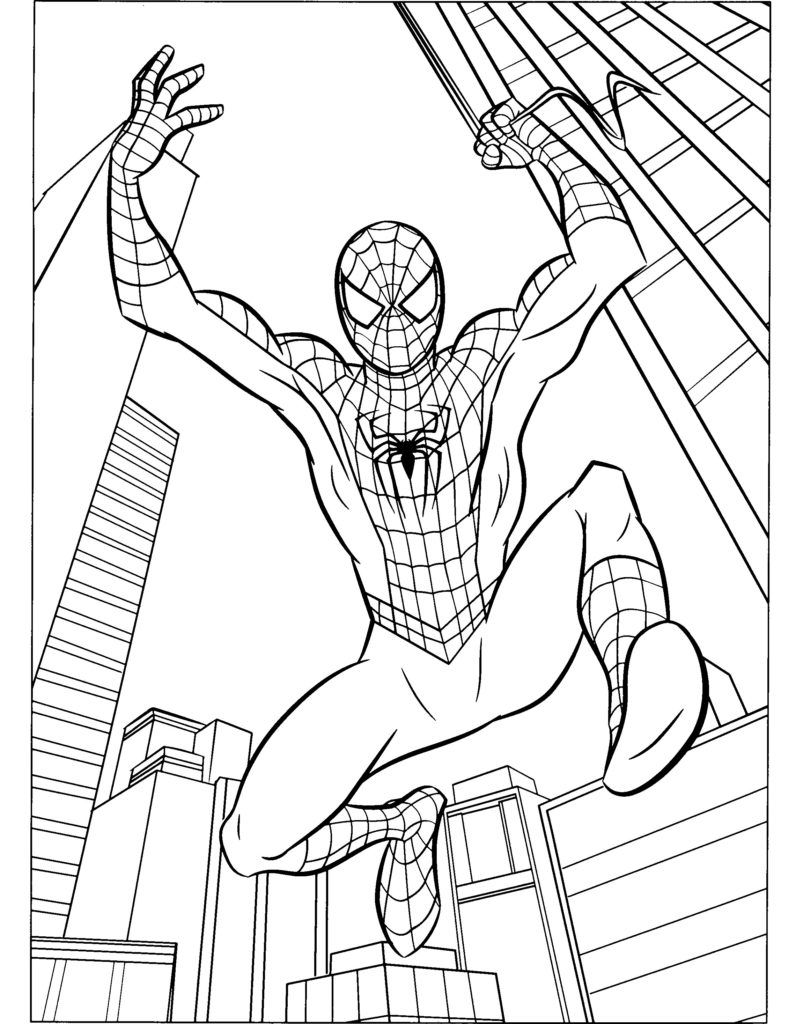 Coloring Pages Pleasing Spiderman Coloring Pages For Kids Spiderman Coloring Pages Cartoon Avengers Coloring Pages Superhero Coloring Pages Superhero Coloring