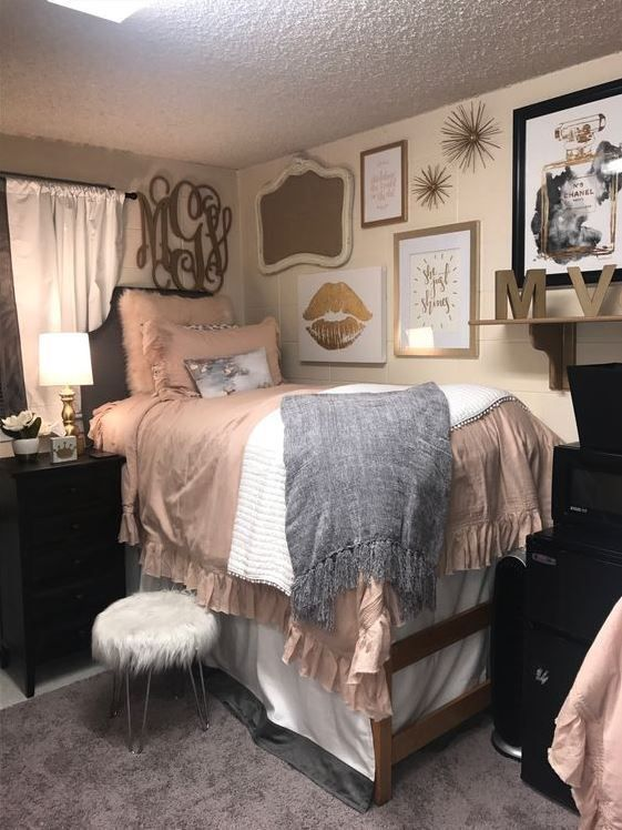 21 Cute Dorm Rooms We're Obsessing Over #cutedormrooms