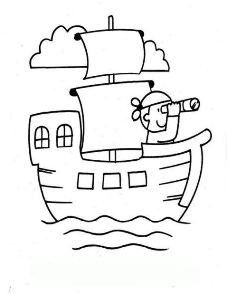 Malvorlagen zum Drucken Ausmalbild Piratenschiff kostenlos ...