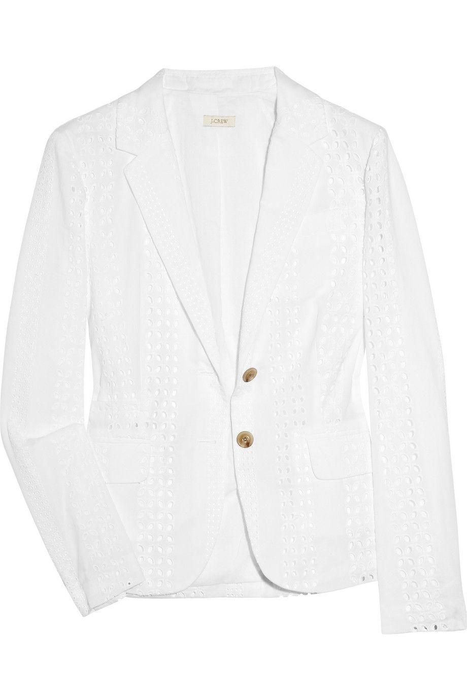 126face6c0 J.CREW - Broderie anglaise cotton blazer. Eyelet fabric, perfect summer  blazer.