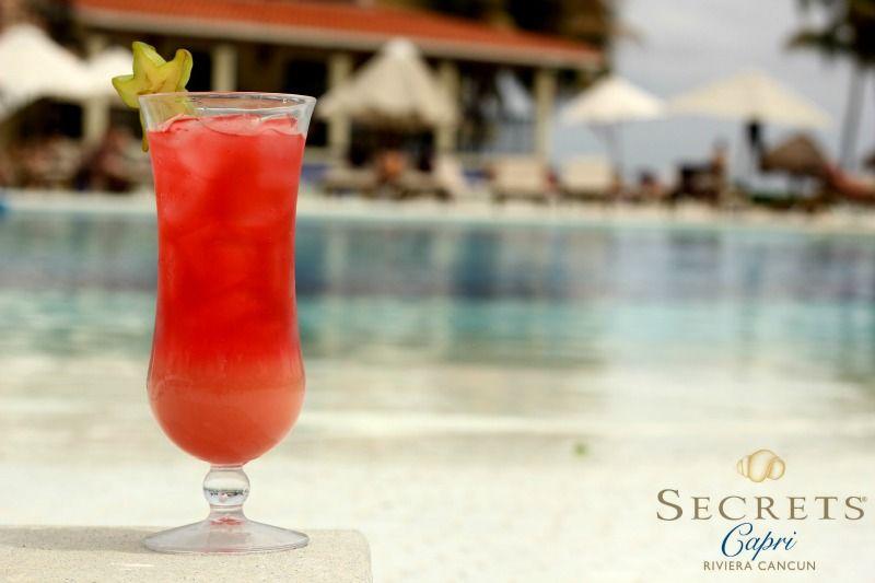 Enjoy @Karen Downing Resorts & Spas #drinkoftheday in the pool, #flavorful #Seabreaze is waiting for you! #SecretsCapri