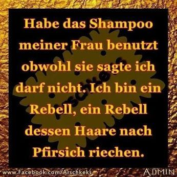 ich bin ein Rebell #shampoo #rebell | Jokes quotes, Funny
