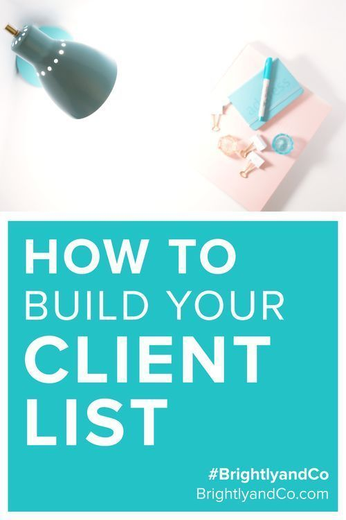 How to Build Your Client List Blog, Get started and Templates - client list template
