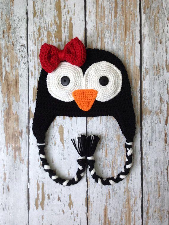 Crochet penguin hat 0-5T  5b85770889a