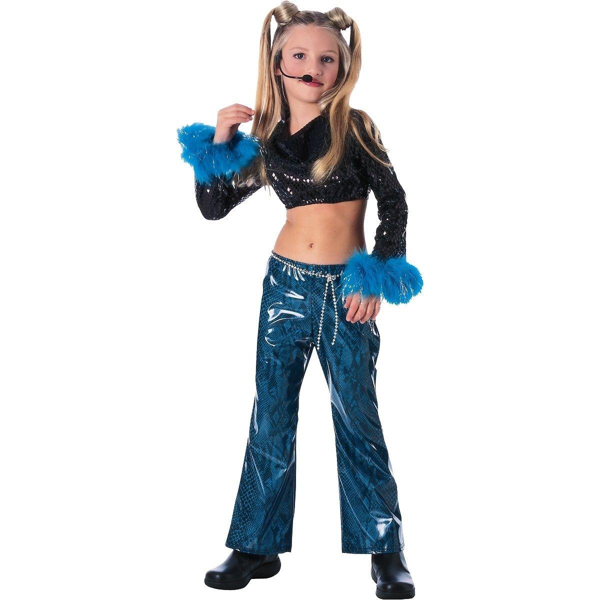 Child mega star girls pop rock diva singer halloween costume pop rock girl 39 s outfit star - Diva pants ebay ...