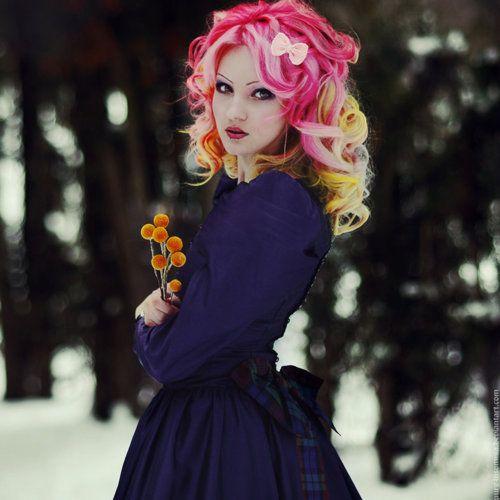 Pink & blonde hair