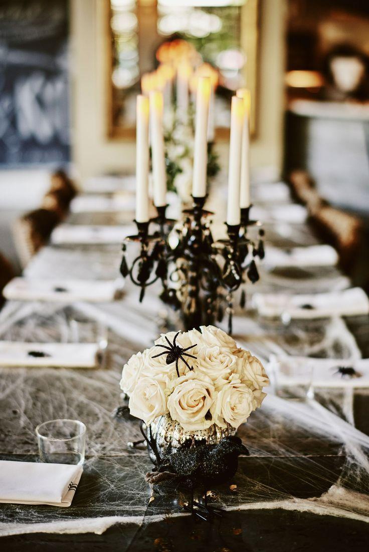 Cobweb gothic wedding decor in 2020 Halloween themed