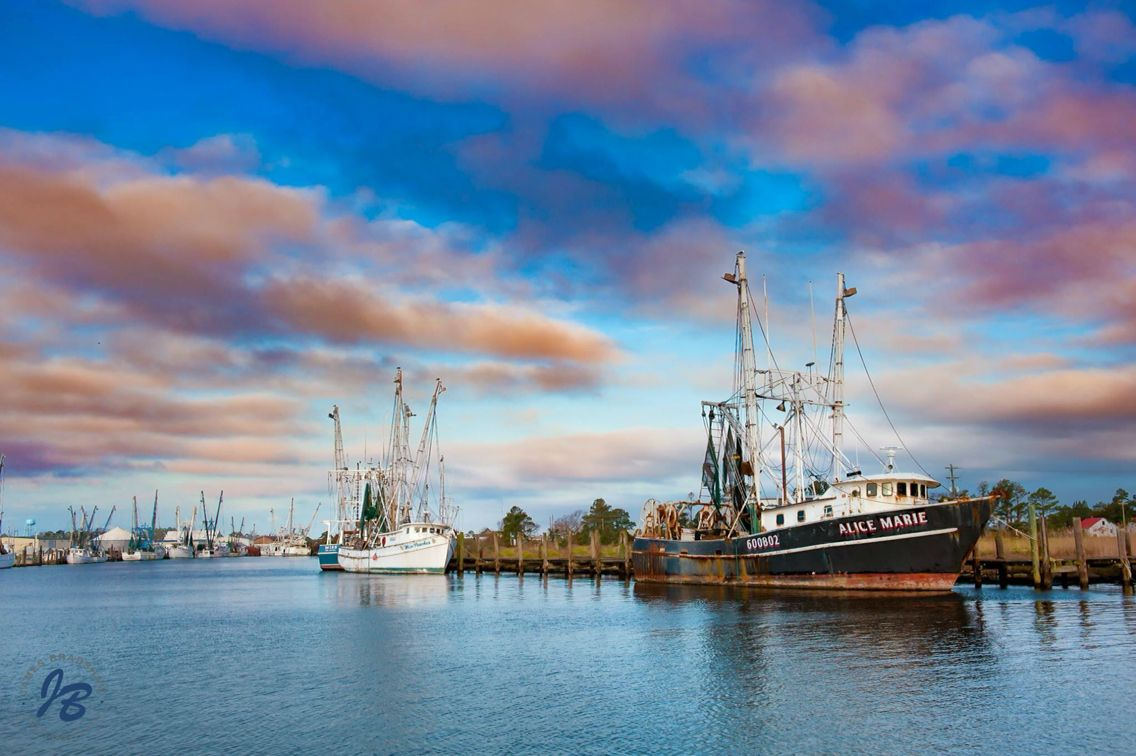 Commercial Fishing Boats In Engelhard North Carolina Landscapes