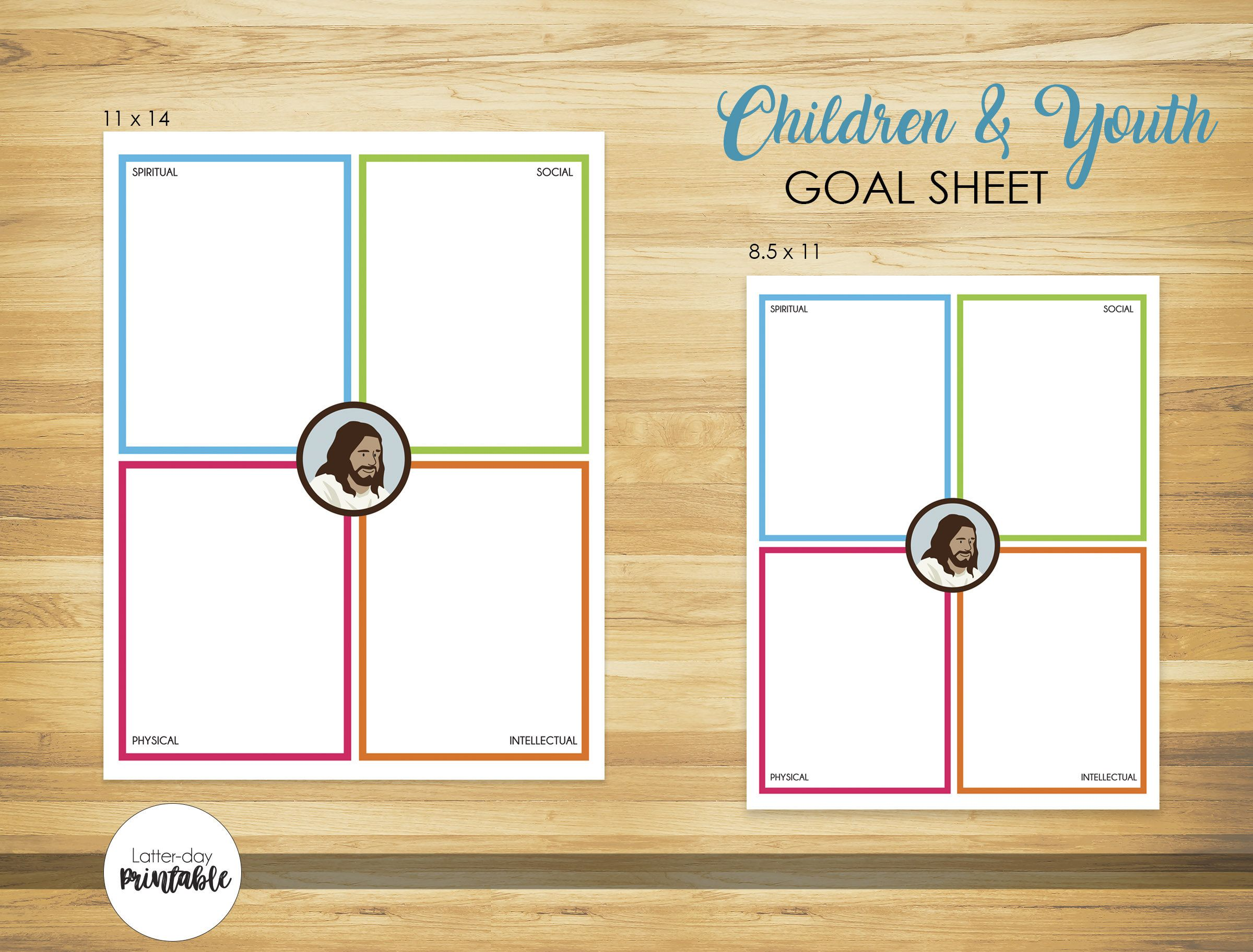Children And Youth Goal Sheet Printable