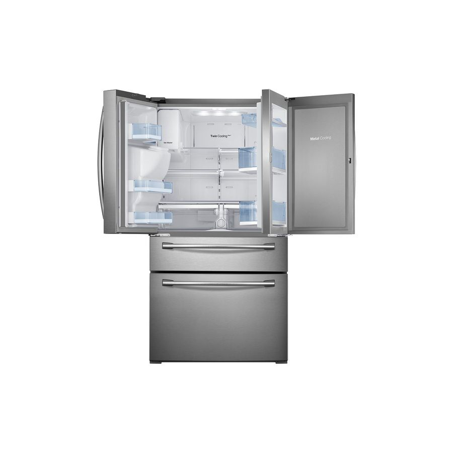 Shop samsung cu ft french door refrigerator with single ice