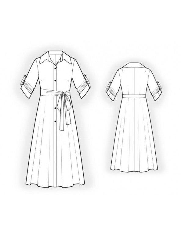 Custom-Fit Sewing Patterns - Button Down Shirt Dress | paulo14 ...