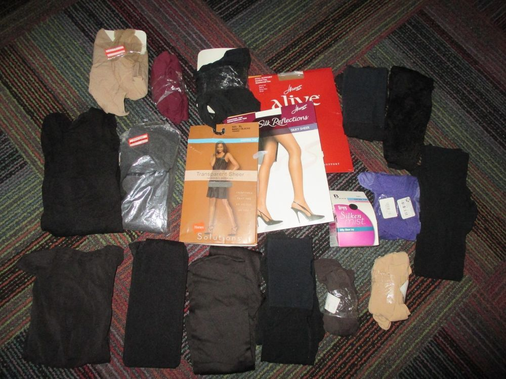 f7b8bd241cea1 NEW LOT OF 19 HANES / XHILARATION / ASSETS + PANTYHOSE, TIGHTS,SIZE &  COLOR… Find this Pin ...