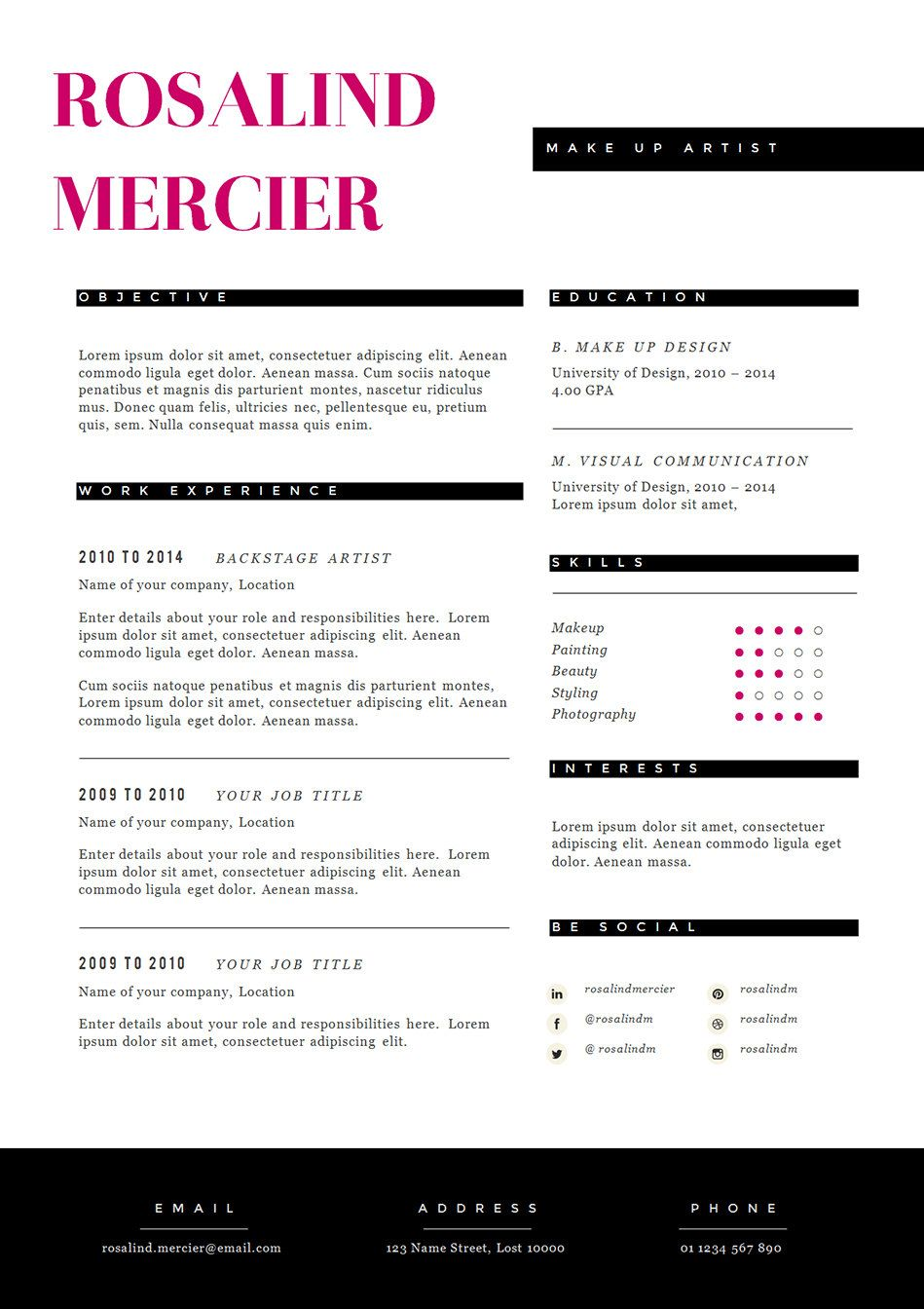stylish resume template and cover letter cv design in by landedco