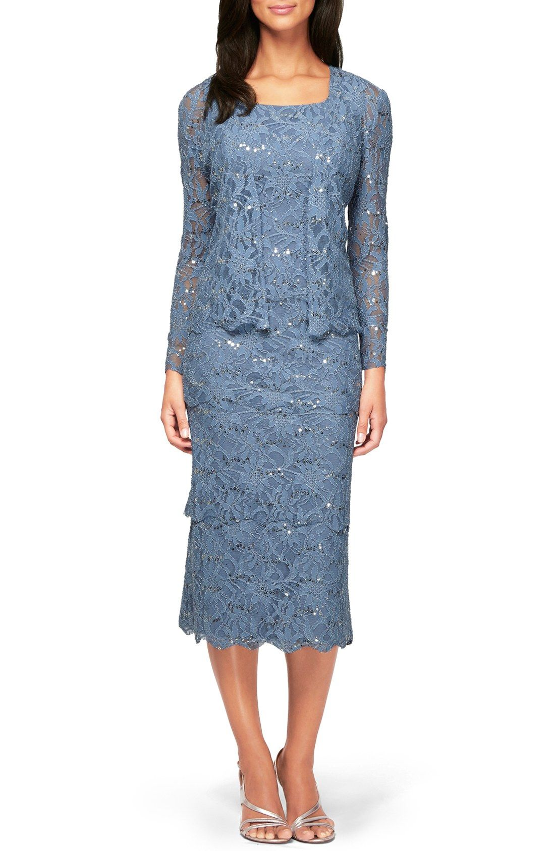 Alex Evenings Sequin Lace Sheath Dress with Jacket | Nordstrom ...
