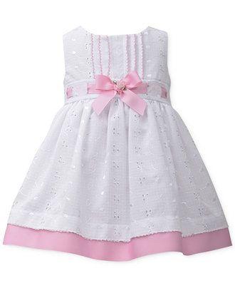 Bonnie Baby Baby Girls' Pintuck Eyelet Dress - Kids - Macy's