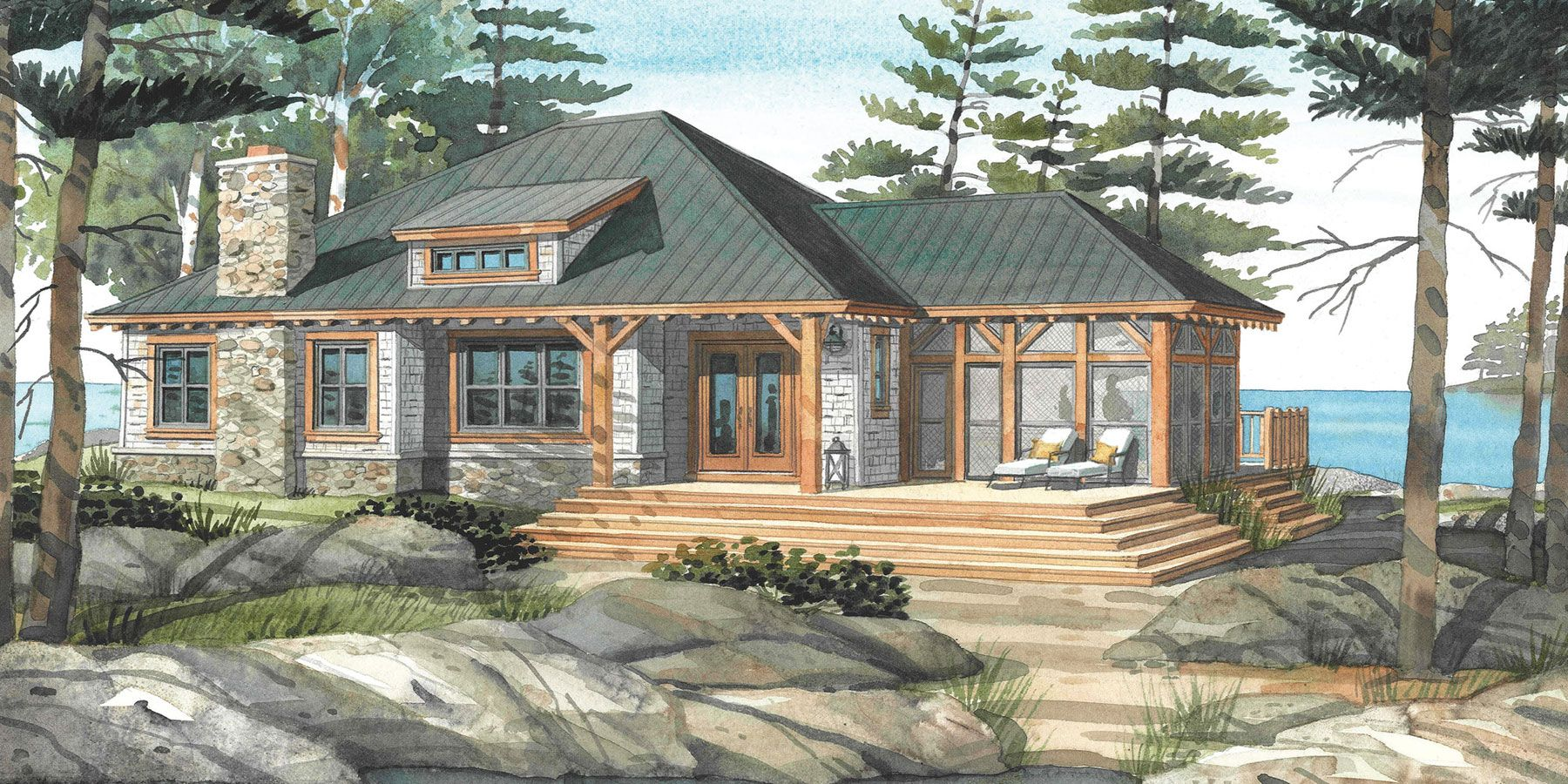 cottage house plans with porches |  normerica custom timber