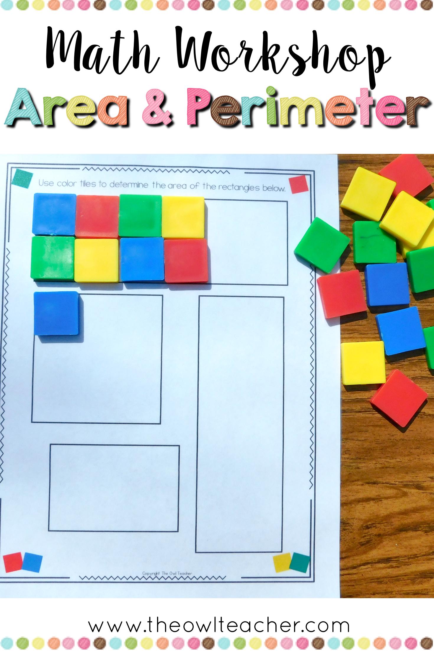 Perimeter And Area Unit For Math Workshop Math Workshop Area Math Activities Area And Perimeter [ 2206 x 1470 Pixel ]