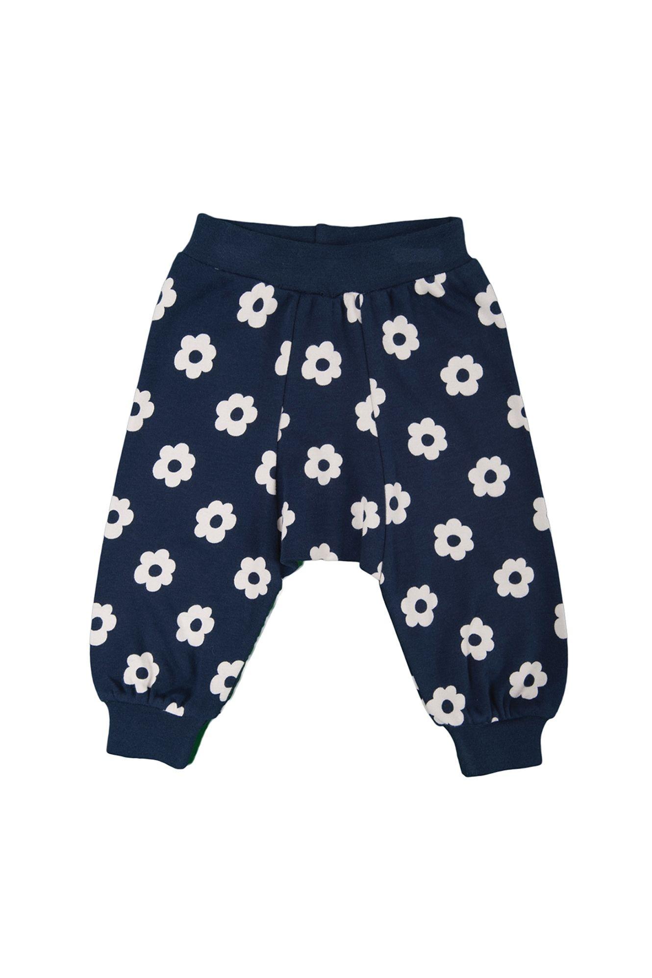 Parsnip Pants Navy Daisy Polka Organic Baby Girl Clothes