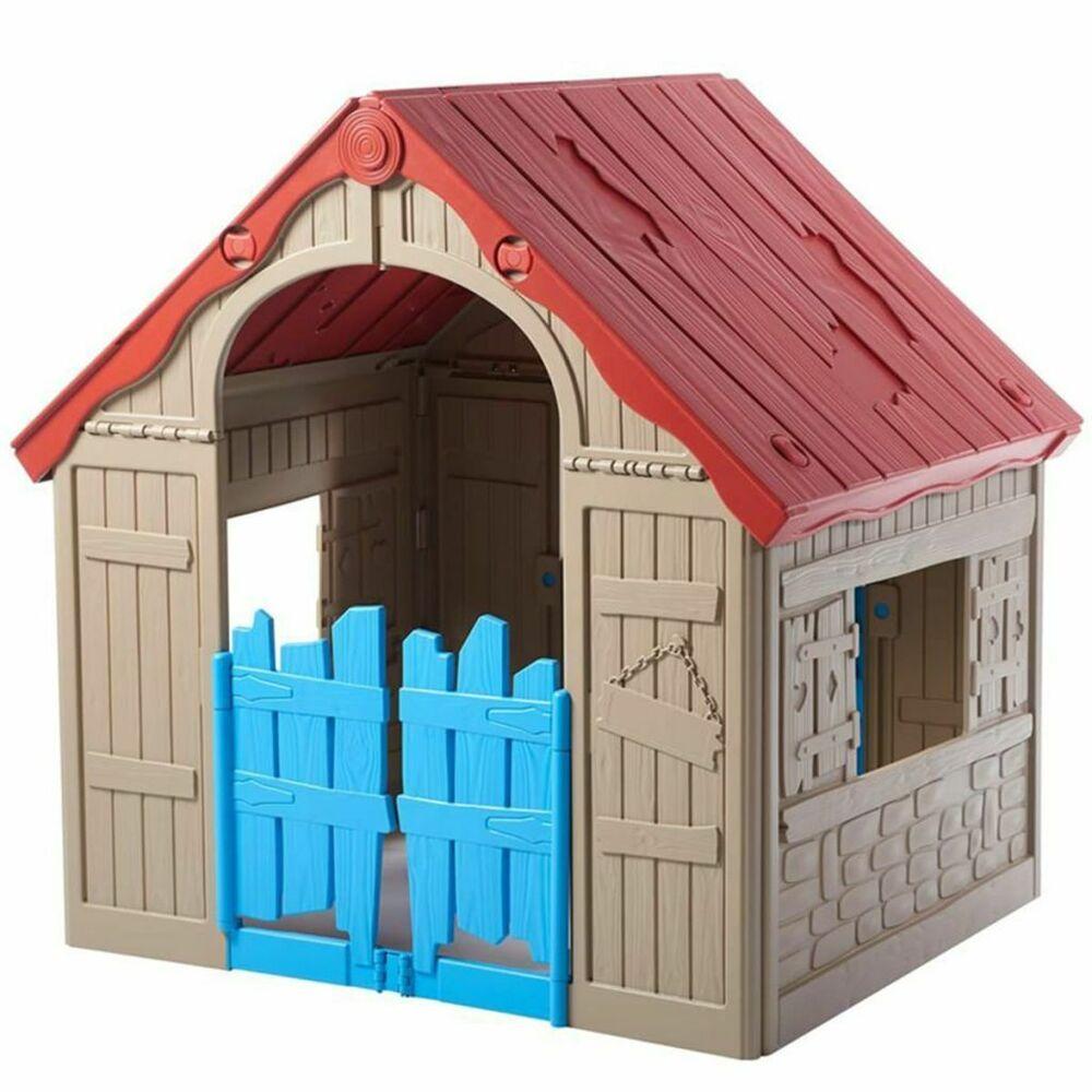 Keter Aire De Jeu Pliable Pliante Wonderfold Maison De Jeux Pour Enfants 233224 Cabane Enfant Aire De Jeux Amenagement Jardin Recup
