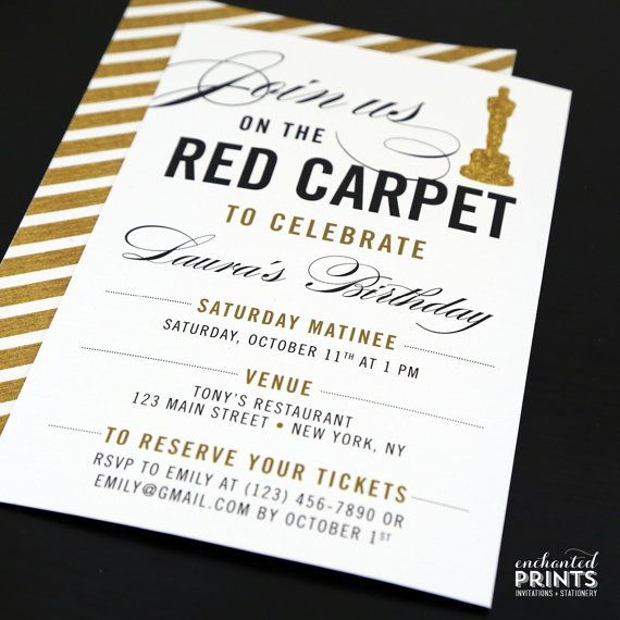 Red Carpet Party Invitation Red Carpet Birthday Red Carpet Etsy In 2020 Red Carpet Party Birthday Movie Themed Party Red Carpet Party