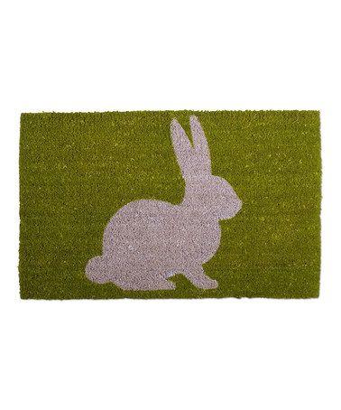 Love this Bunny Silhouette Coir Mat on #zulily! #zulilyfinds www.zulily.com