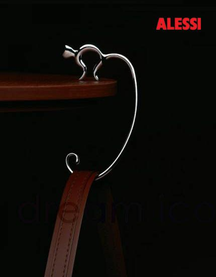 Alessi Minou Hand Bag Hook - Purse Hook FGO01