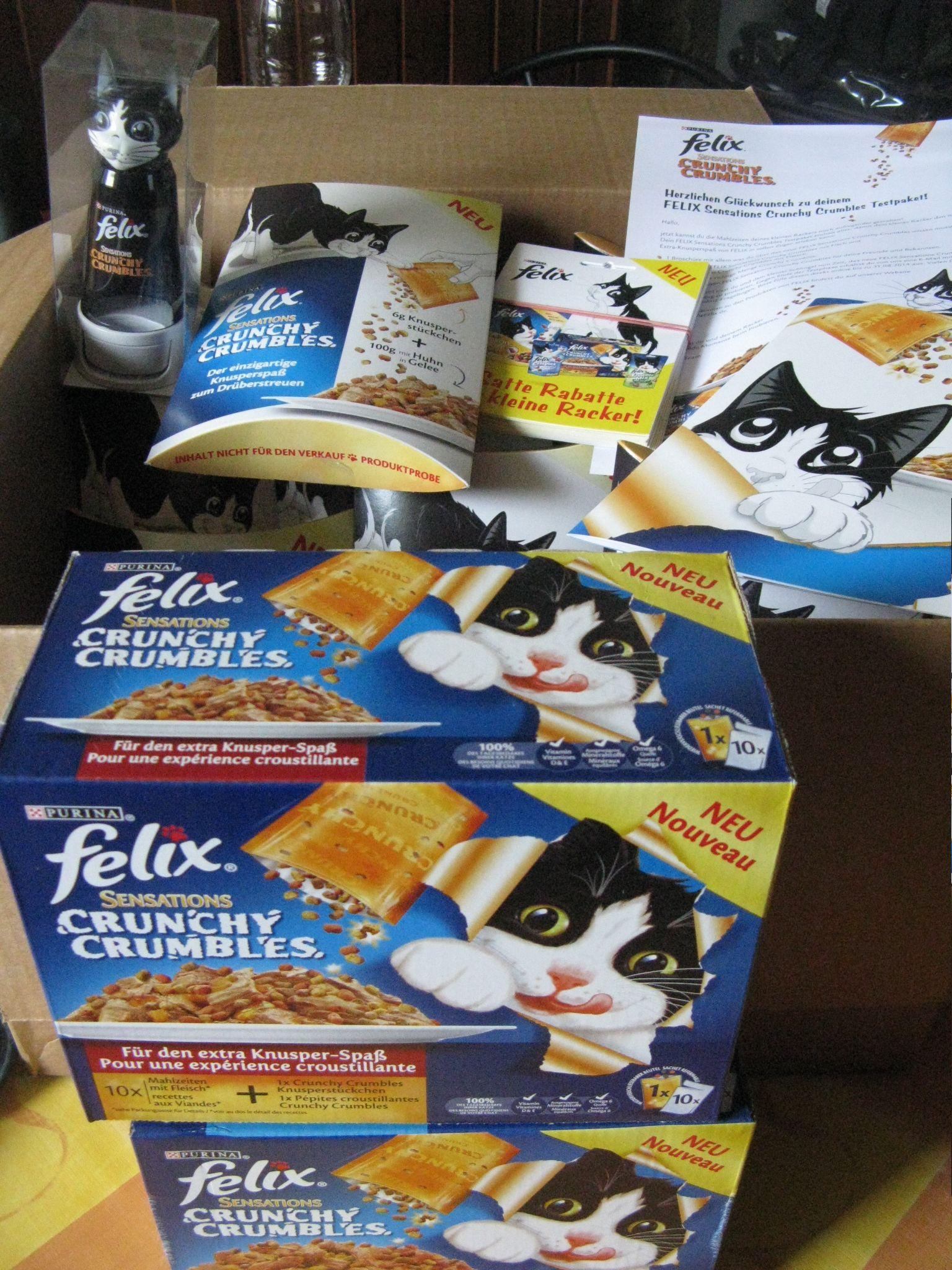 Felix Sensations Crunchy Crambles Mit Fisch Und Einmal Mit Fleisch