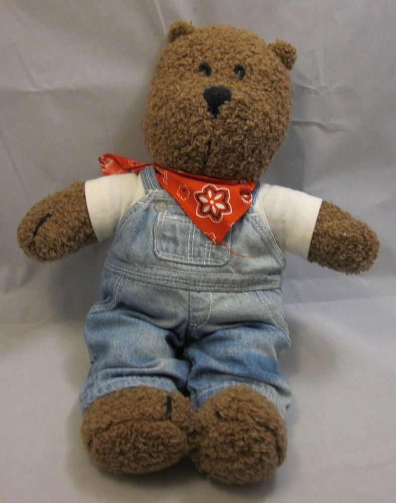 eb72c9865f39 Details about Baby GAP Teddy Bear Jean Overalls Red Bandana TShirt ...