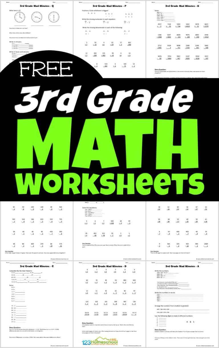 Free Printable 3rd Grade Math Worksheets In 2020 3rd Grade Math Worksheets 3rd Grade Math Third Grade Math Worksheets