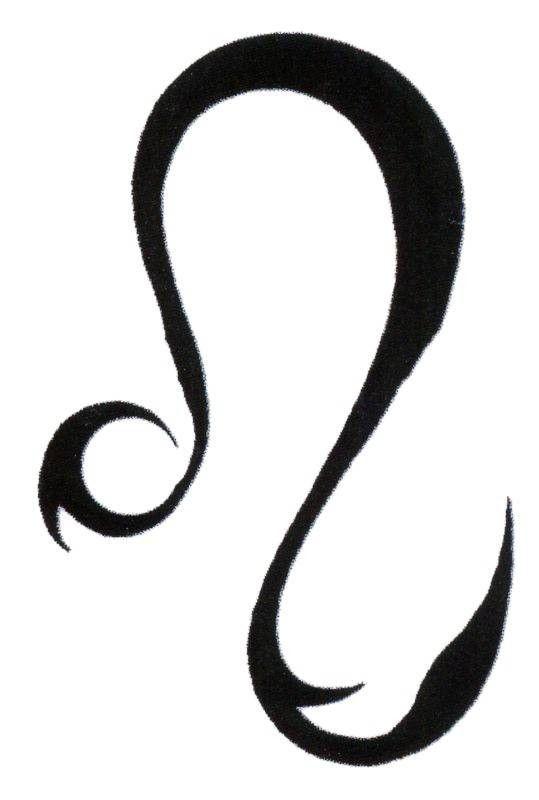 Leo Symbol Tattoo Tattoo Transfer Of Sign Of The Zodiac Leo The