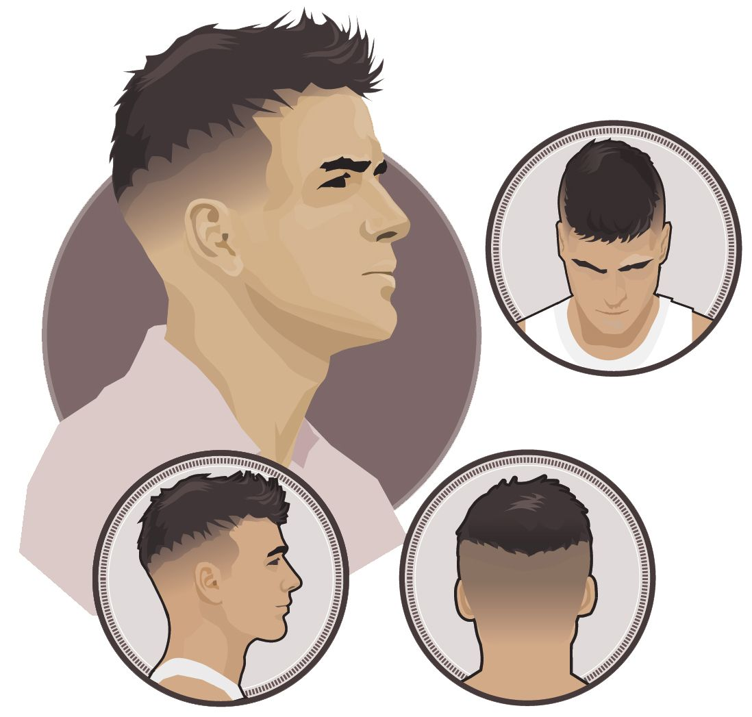 Man Fade Hairstyle Cieniowana Fryzura Meska Fryzury Pinterest