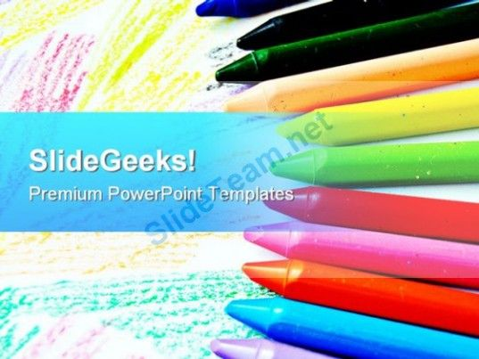 crayons art education powerpoint templates and powerpoint, Powerpoint templates