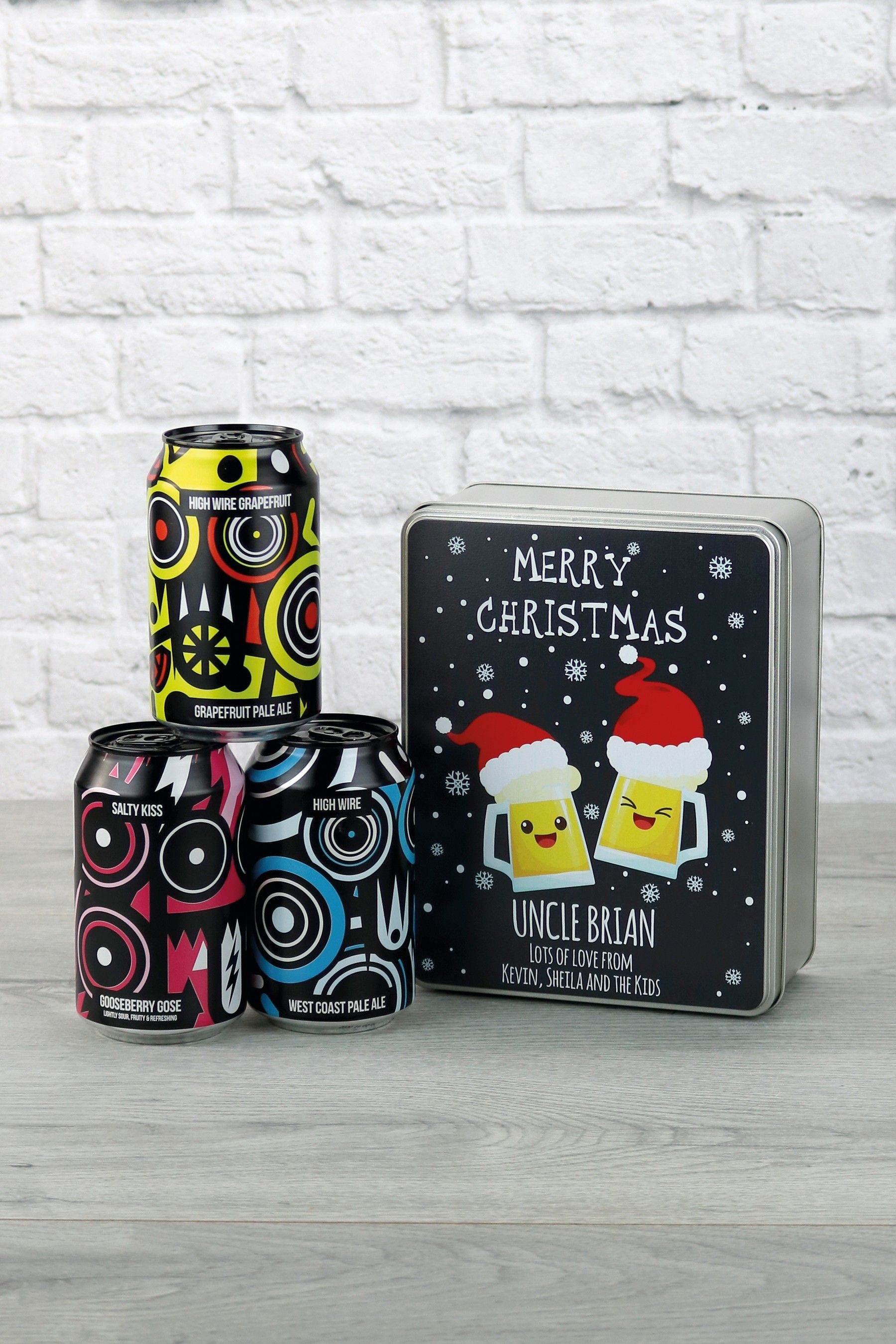 Personalised Pale Ale Gift Tin by Le Bon Vin Tin gifts