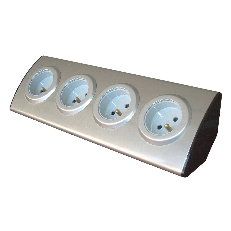 Multiprise à Câbler 4 Prises Aluminium Zenitech Products
