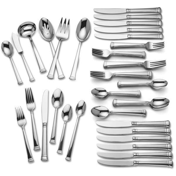 Kingston 78-pc Flatware Set By Lenox  sc 1 st  Pinterest & Kingston 78-pc Flatware Set By Lenox | My dinnerware collection Love ...