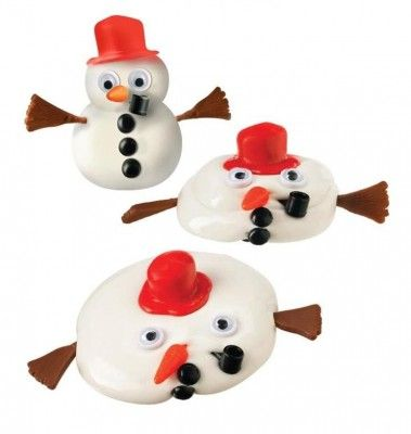 melting snowman kit - a fun desk accessory for any age - holiday co-worker gift, sweet kid's stocking stuffer