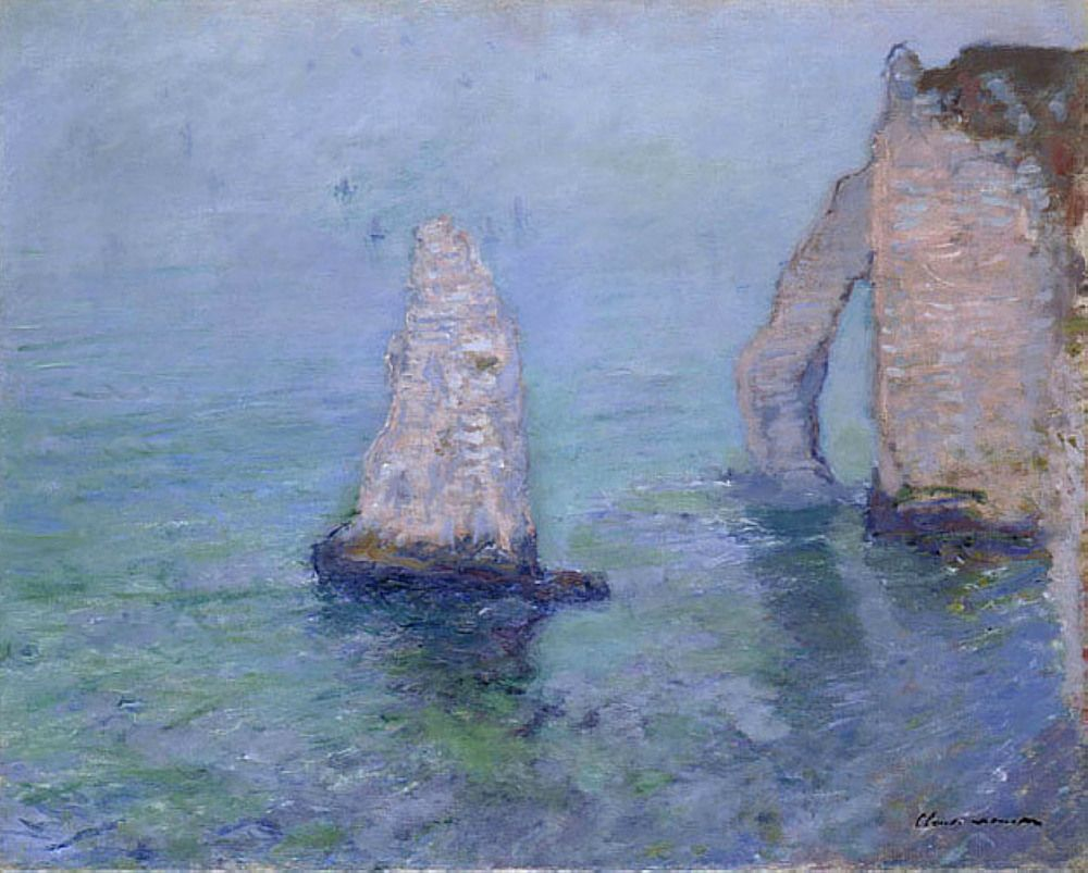 The Rock Needle and Porte d'Aval, Etretat by @claude_monet #impressionism