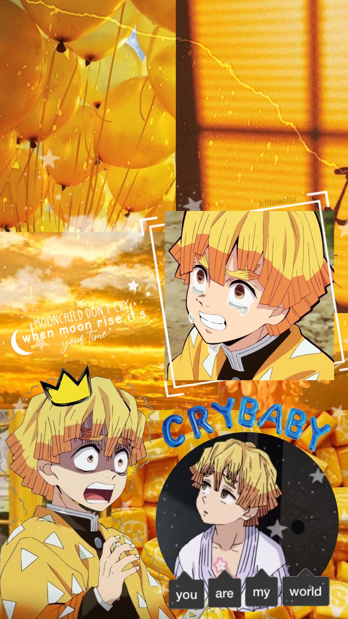 Zenitsu Agatsuma Lockscreen Wallpaper Anime Wallpaper Iphone Anime Naruto Wallpaper