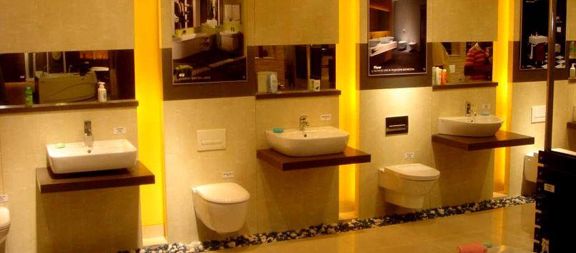 Sanitary Ware Product For Bathroom Fitting Like Wash Basins Water Closets Cisterns Bidets Urinals Sinks Fr Tile Showroom Shop Interiors Bathroom Showrooms