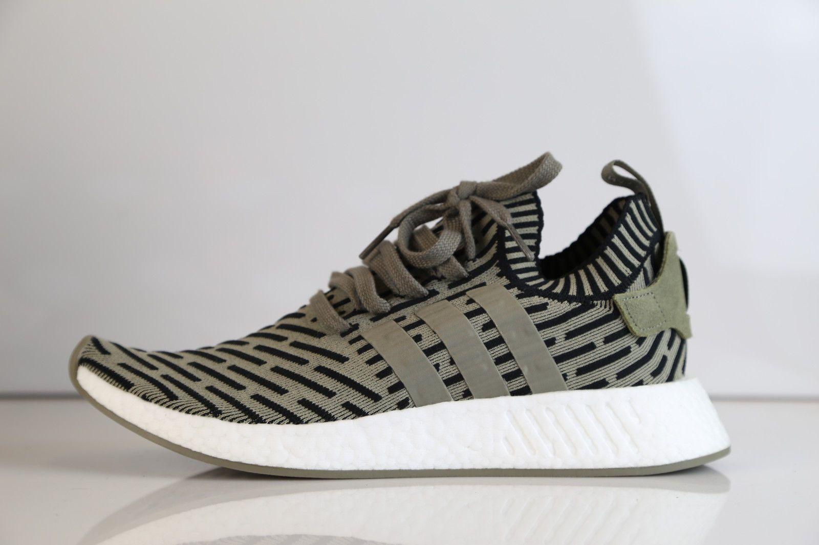 Adidas NMD R2 PK Trace carga negro Olive hombre  corriendo zapatos blog