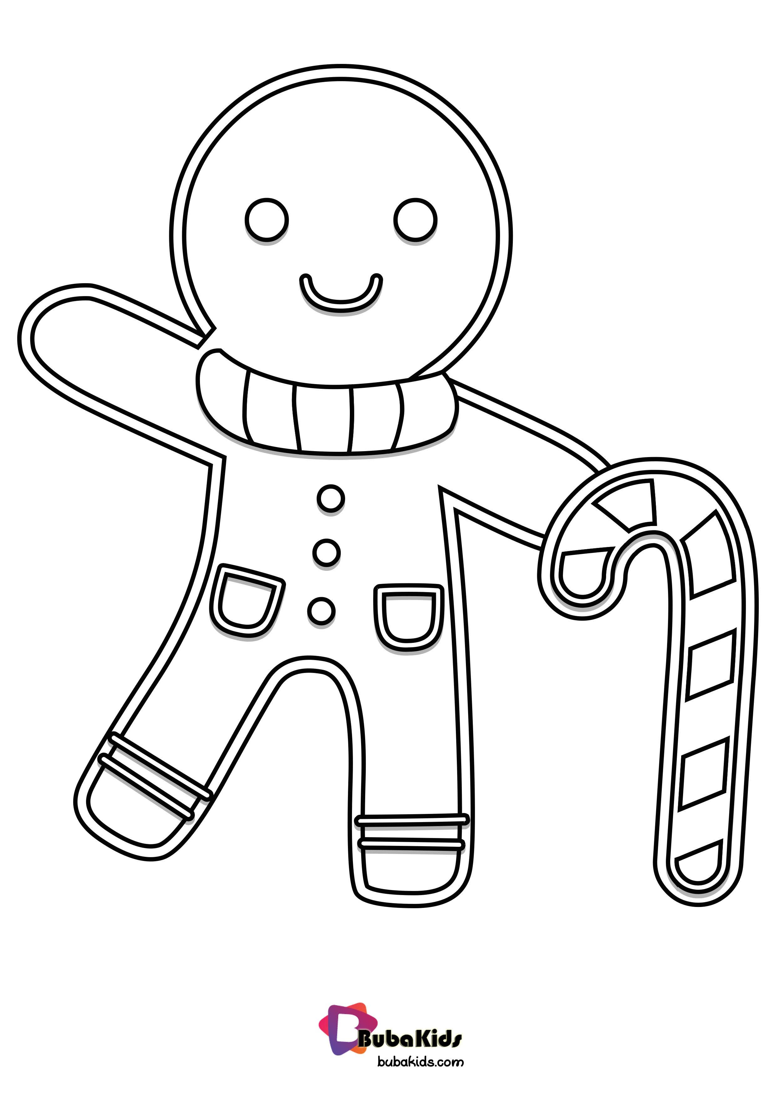 Gingerbread Coloring Page Download And Color It
