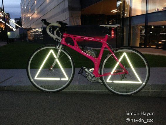 Triangle Wheel Reflectors Bicycle Com Imagens Magrela