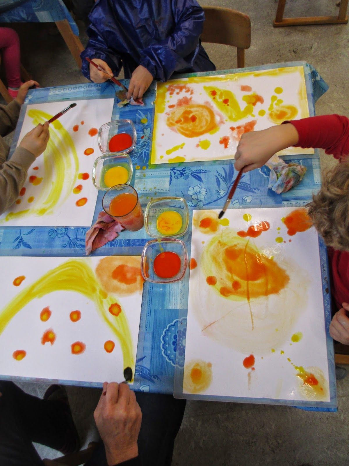 Aquarellieren Im Kindergarten Aquarell Malen Aquarell Malen