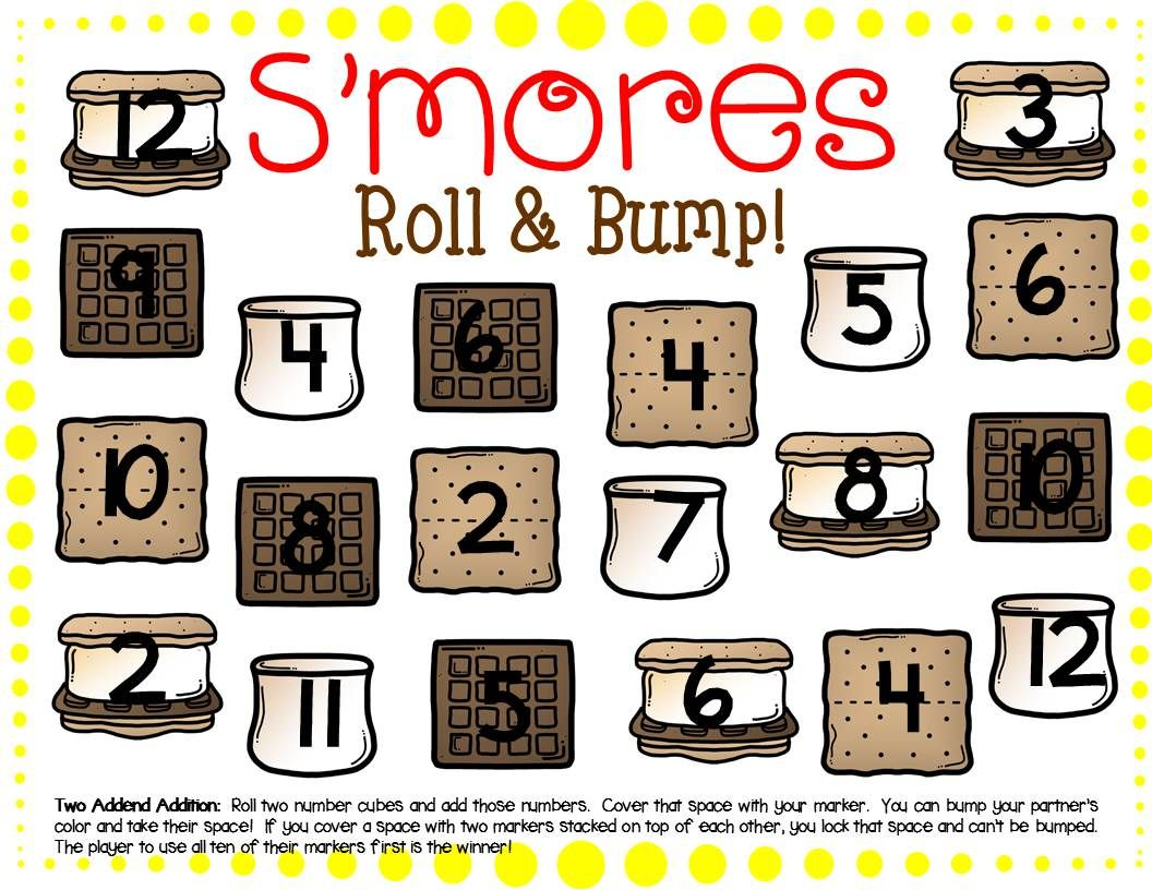 S More Math Center Dice Games